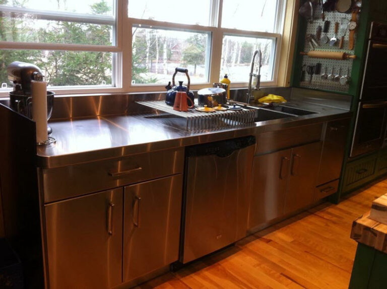 stainless counter and sink