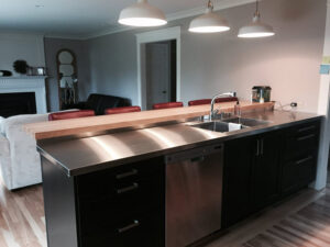 stainless kitchen in home